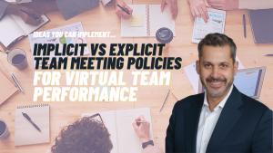 Assessing Awareness vs. Action Inside of Virtual Meetings
